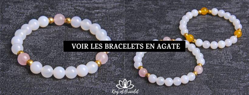 Bracelet Agate Blanche - King of Bracelet