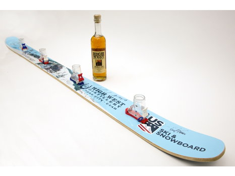 Shotski by High West, signed by 2018 Olympic medalists