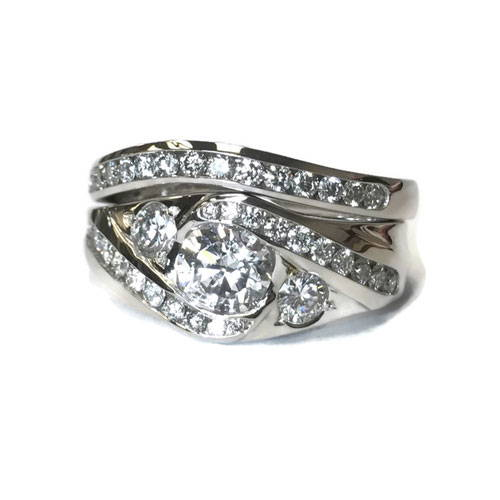 diamond ring polished and cleaned