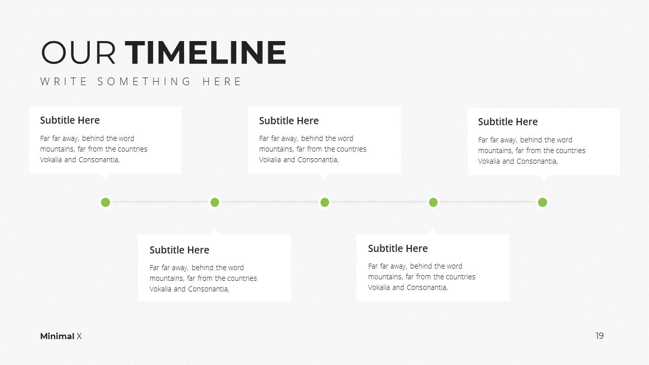 Minimal X Sales Deck Presentation Template Timeline
