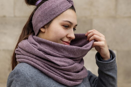 Шерстяной шарф Friend Function Сиреневый меланж