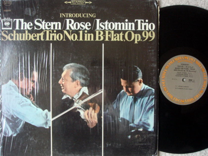 Columbia / STERN-ROSE-ISTOMIN TRIO, - Schubert Trio No.1, NM!