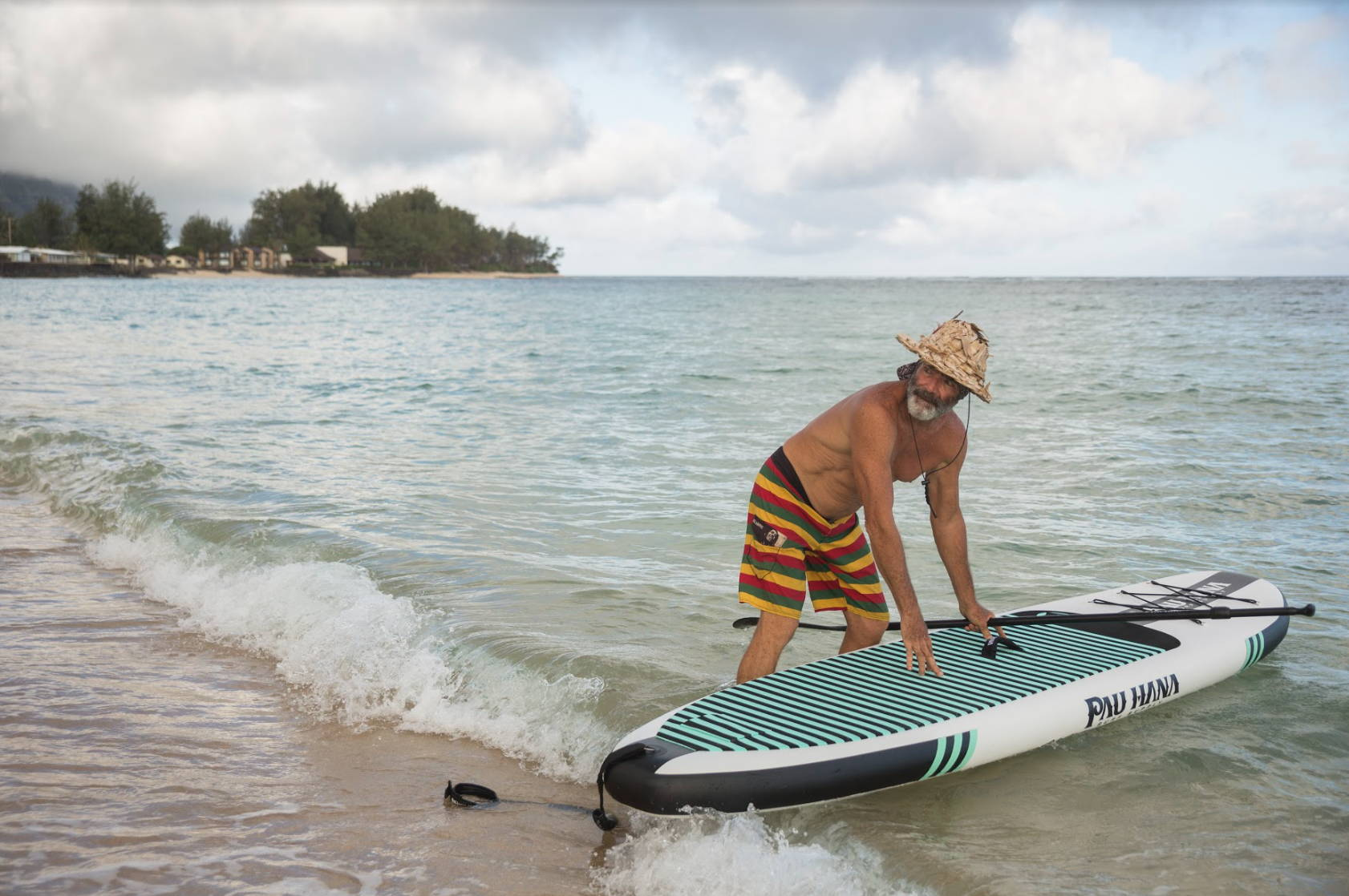 This is the best inflatable paddle board from Pau Hana.