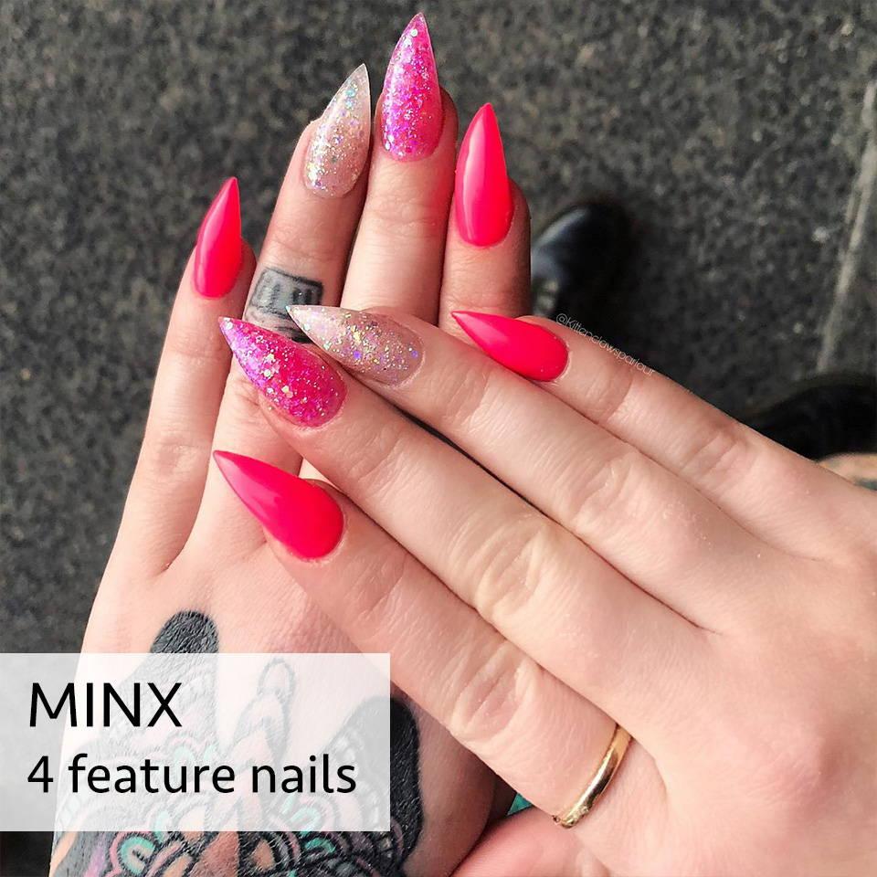 pink minx nails hendra