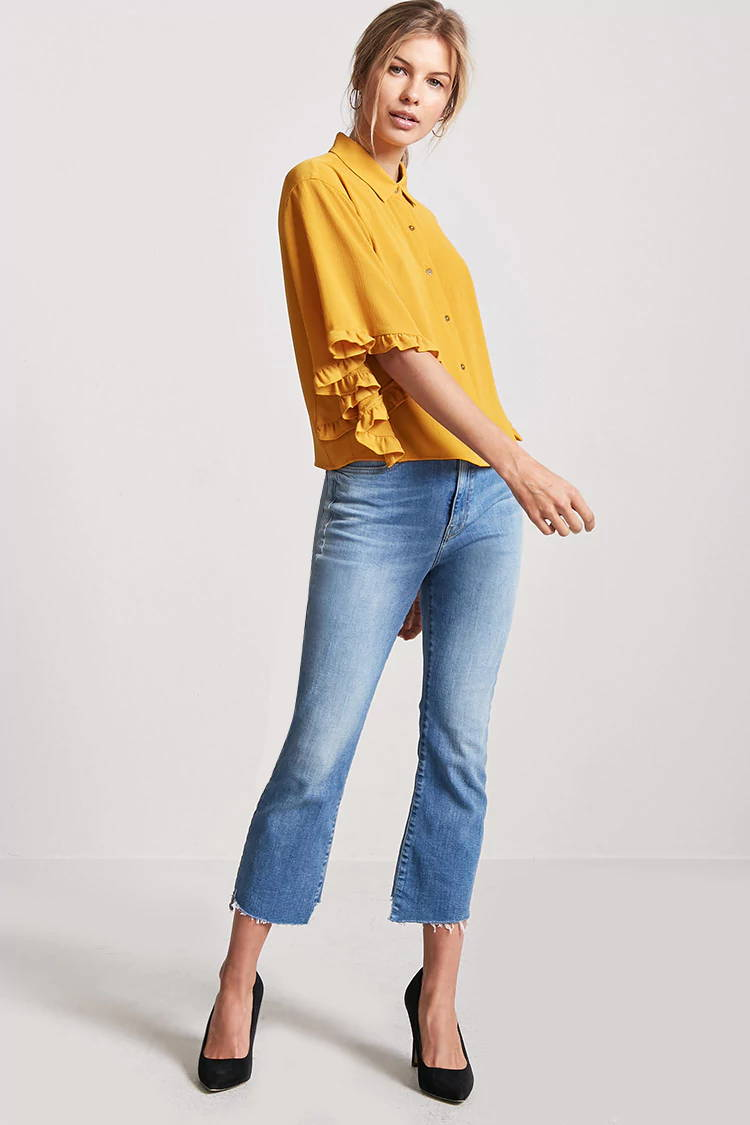 yellow spring top from forever 21