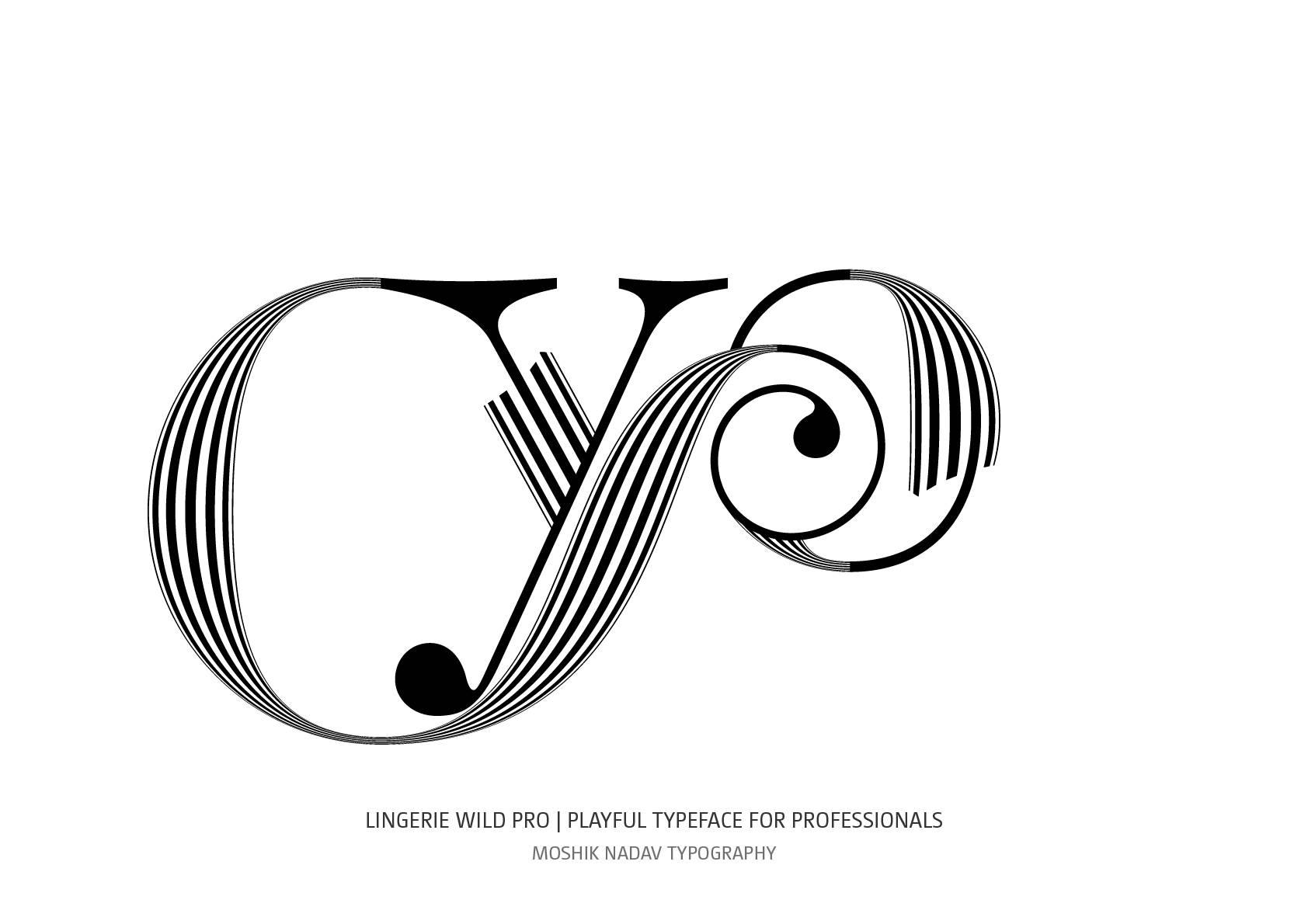 Lingerie Wild Pro Typeface yo ligature by Moshik Nadav Typography