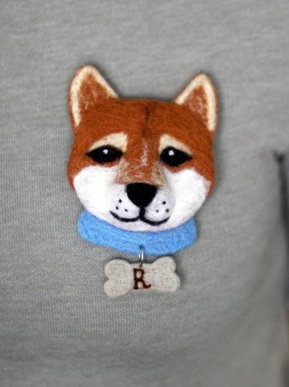 Брошь собака Ray