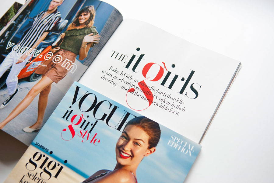 Paris Typeface in Vogue magazine