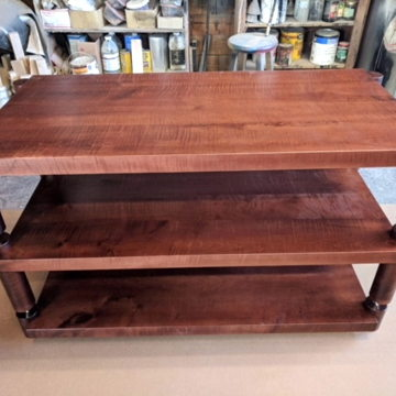 with Walnut Stain