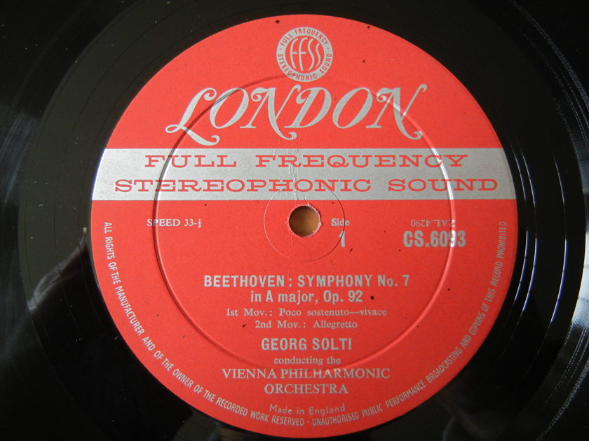 Beethoven - Symphony No. 7 in A major, Op. 92 London FFSS CS-6093 Blue-Back Firrst Edition