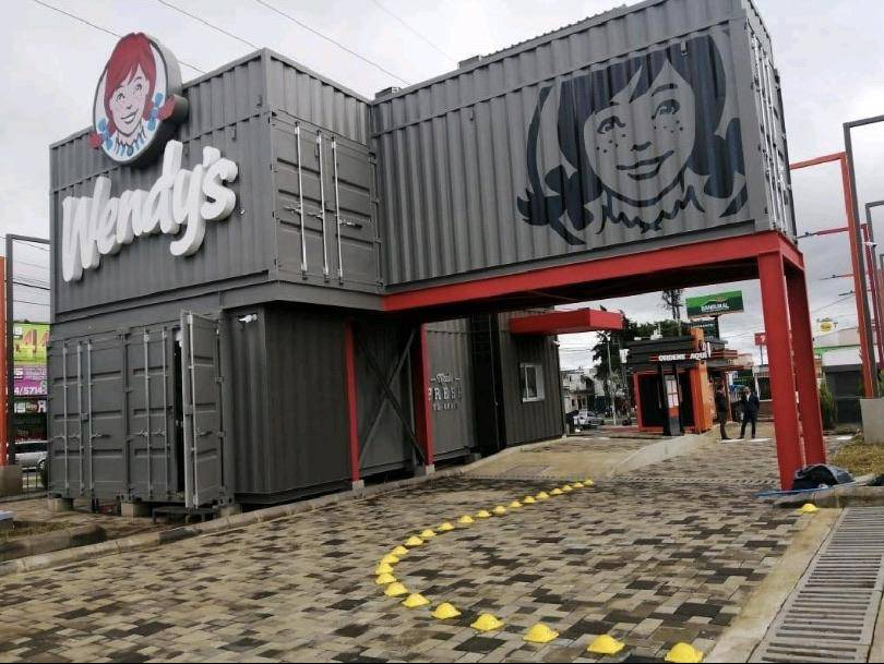 40 foot shipping container Wendys Drive Thru