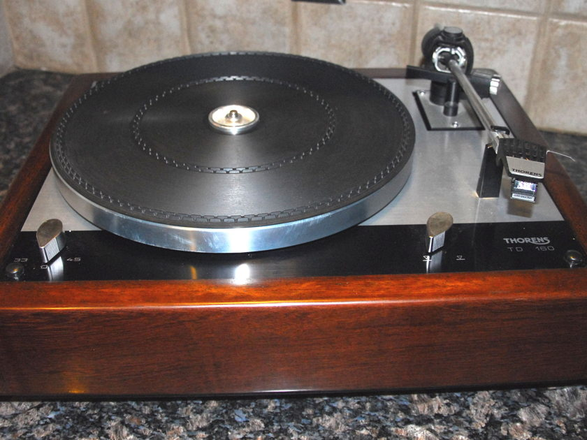 Thorens TD-160 New Brazilian Ebony Plinth Excellent Condition