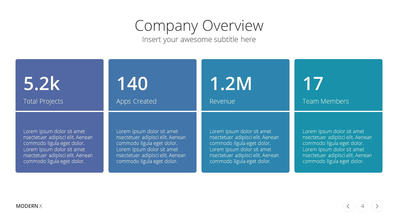 Modern X Consulting Firm Proposal Presentation Template Company Overview