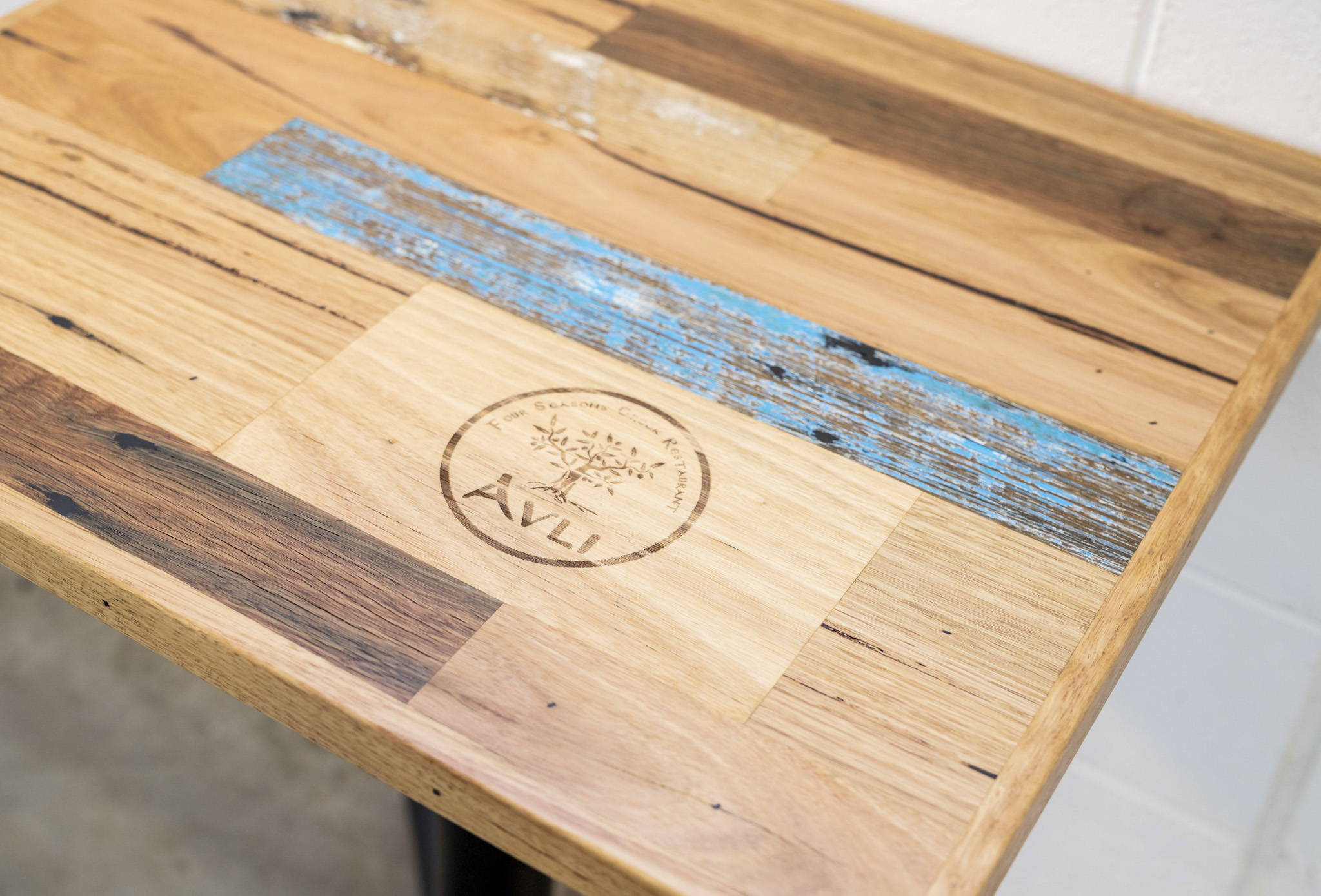 Cafe Table Scatter Board Custom Inlay