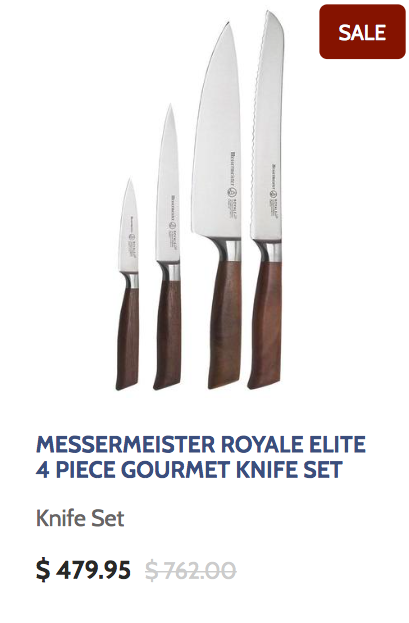Messermeister Royale Elite 4 Piece Gourmet Knife Set