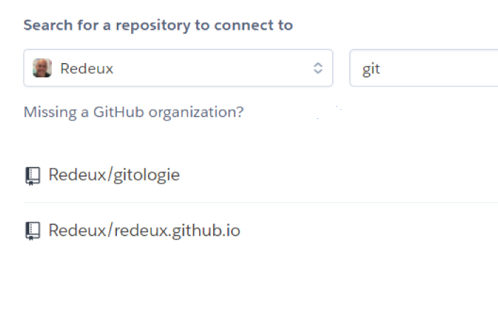 Select your Github repository