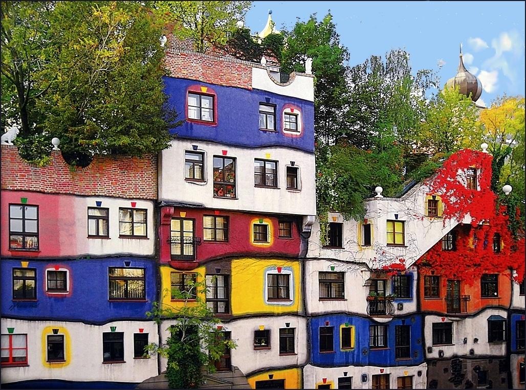 экскурсия из праги в вену: дом хундертвассера