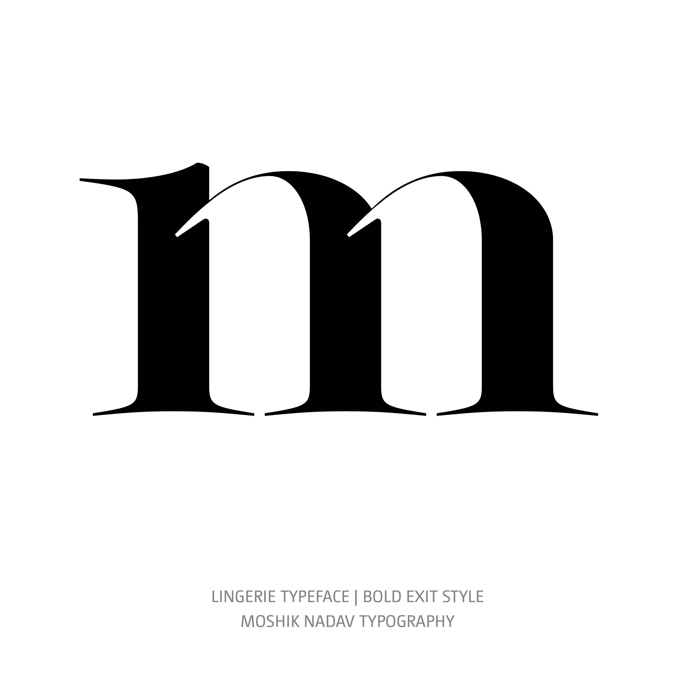 Lingerie Typeface Bold Exit m