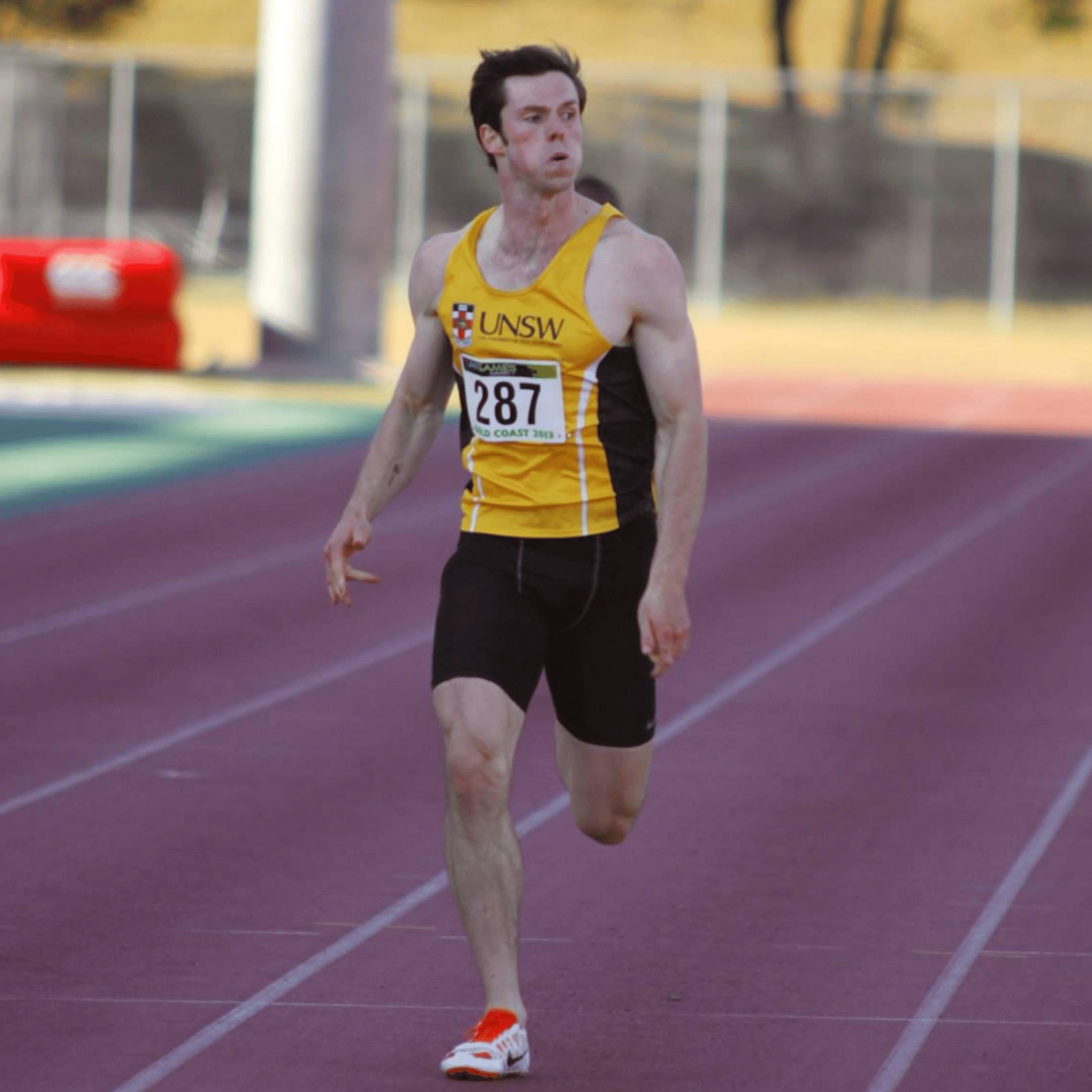 Fast male runner