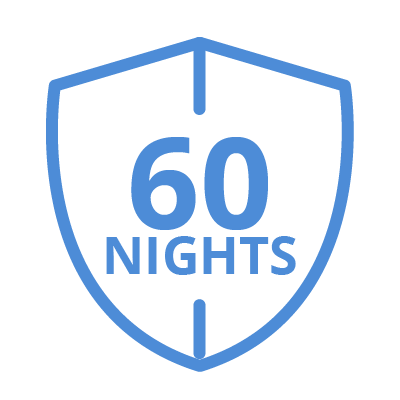 60 night sleep guarantee icon