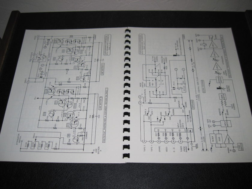 AUDIO RESEARCH CORPORATION MODEL SP15 PREAMPLIFIER - ORIGINAL OWNER'S MANUAL -FAST SHIPPING-