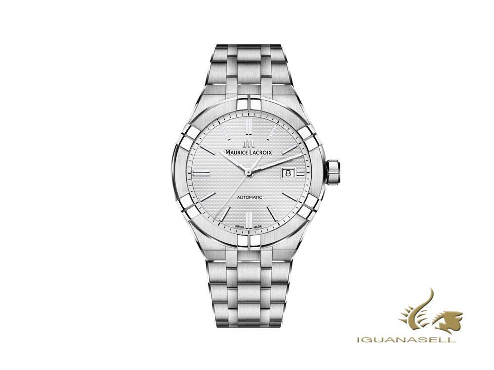 Reloj automático Maurice Lacroix Gents, plata, brazalete acero inoxidable