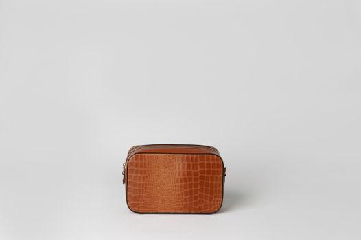 Сумка из натуральной кожи под крокодила - LUCIDA - croco texture bag. В наличии в Москве