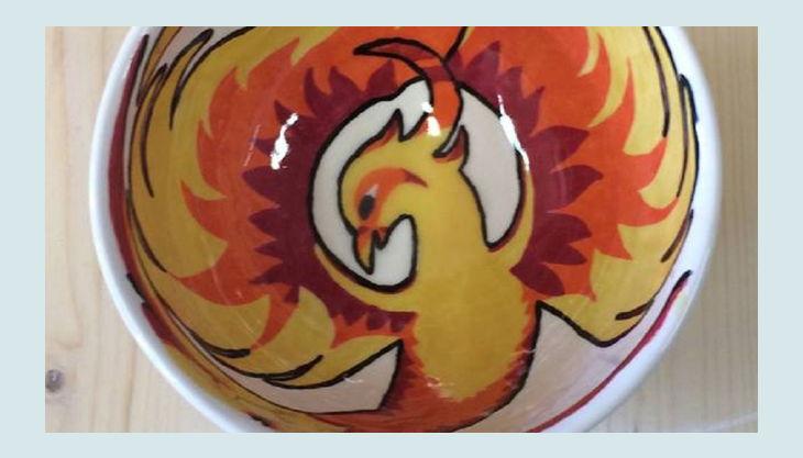mal werk kindergeburtstag phoenix keramik schüssel