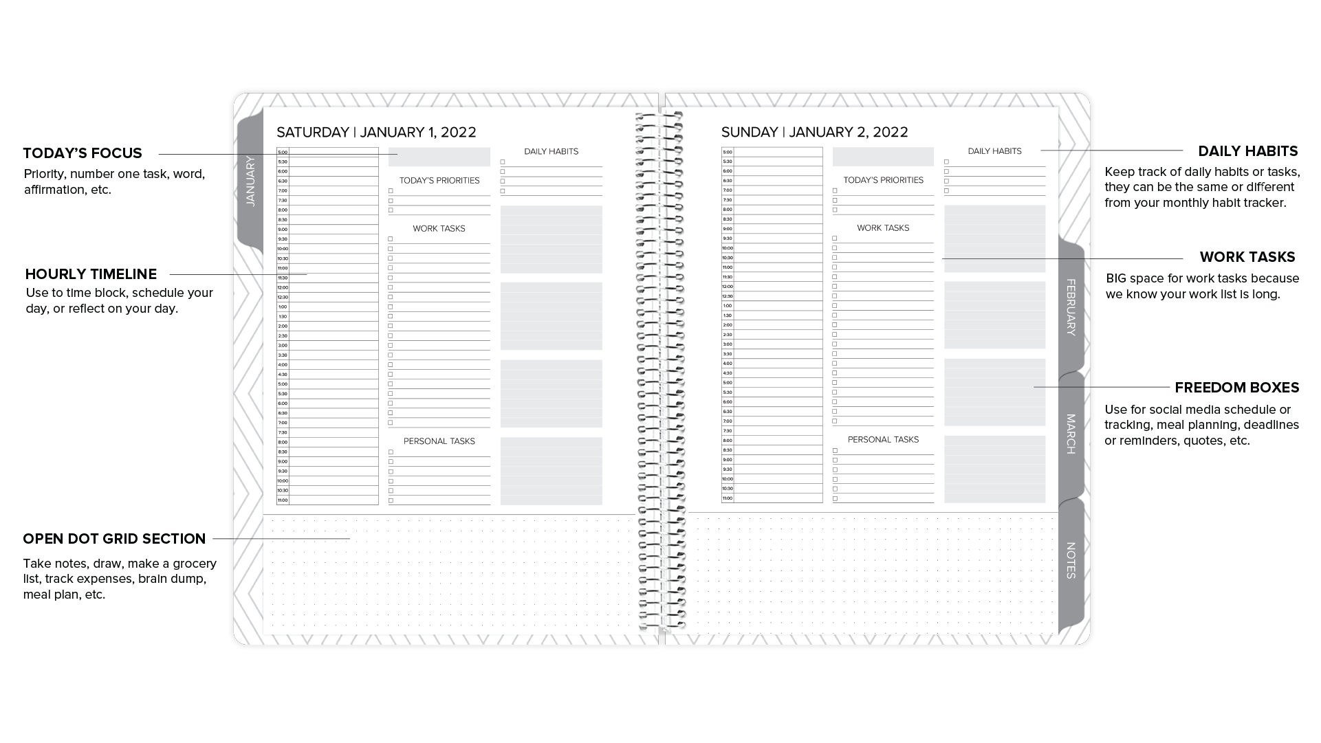 amplify planner daily layout