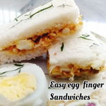 Delicious Egg Finger Sandwiches