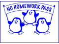Homework Pass for a Day for the Entire Class - Fifth Grade!