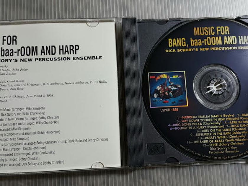 Dick Schory - Dick Schory´s New Percussion:  Music for Bang, Baaroom LSPCD 1866 Classic Records