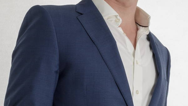 picture of undershirt with open shirt