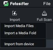import photos into photo organizer