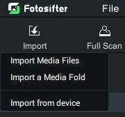 import photos into photo organizer