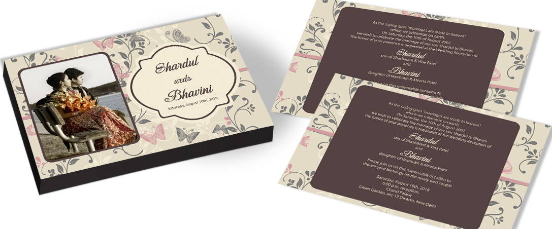 Butterfly Theme Wedding Invitation – CHOCOCRAFT
