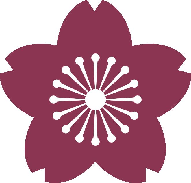 pale cherry tree blossom logo
