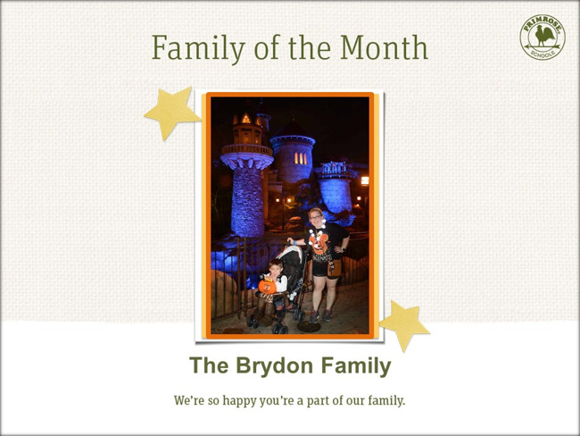 Congratulations on being our June Family of Month!