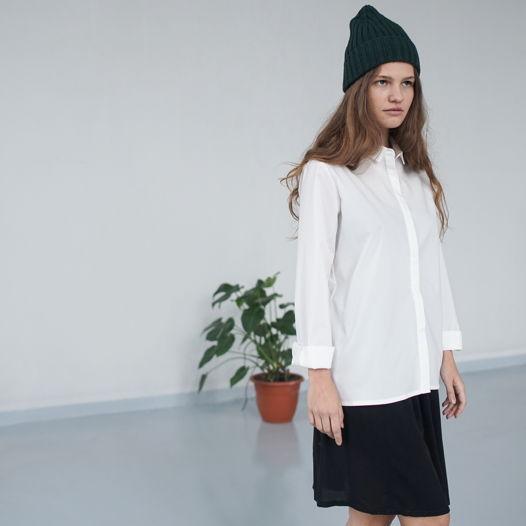 Рубашка белая прямая