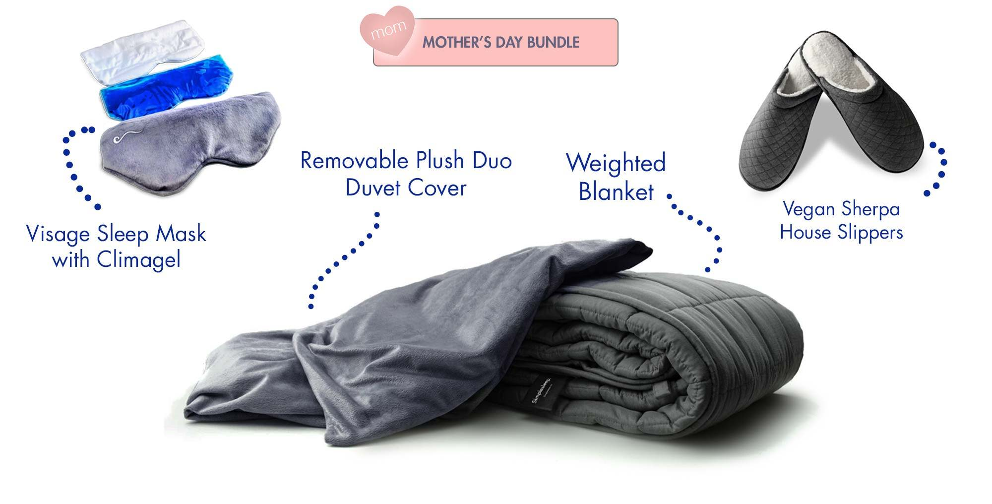 Simplesleep Weighted Blanket and Removable Cover