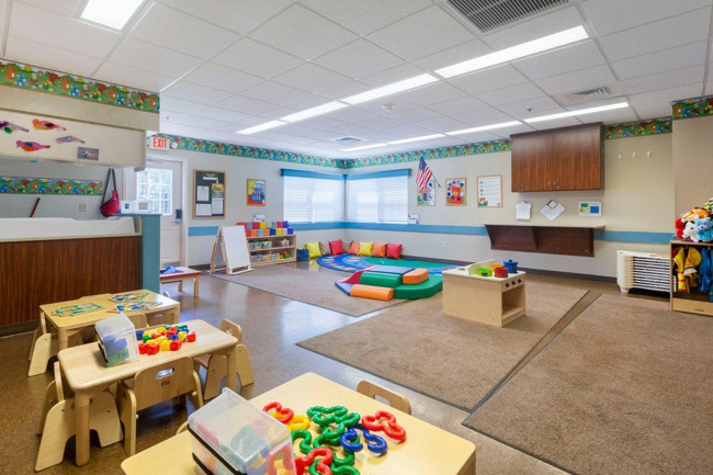 Our Young Toddler Classroom is a safe and fun place to learn and play!