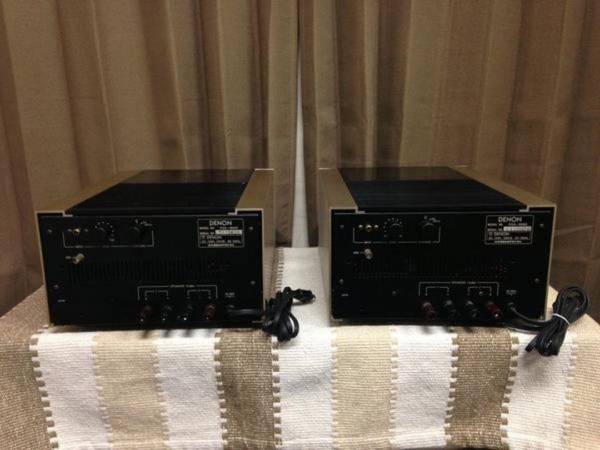 VINTAGE DENON POA-8000 MONOBLOCKS POWER AMPLIFIER
