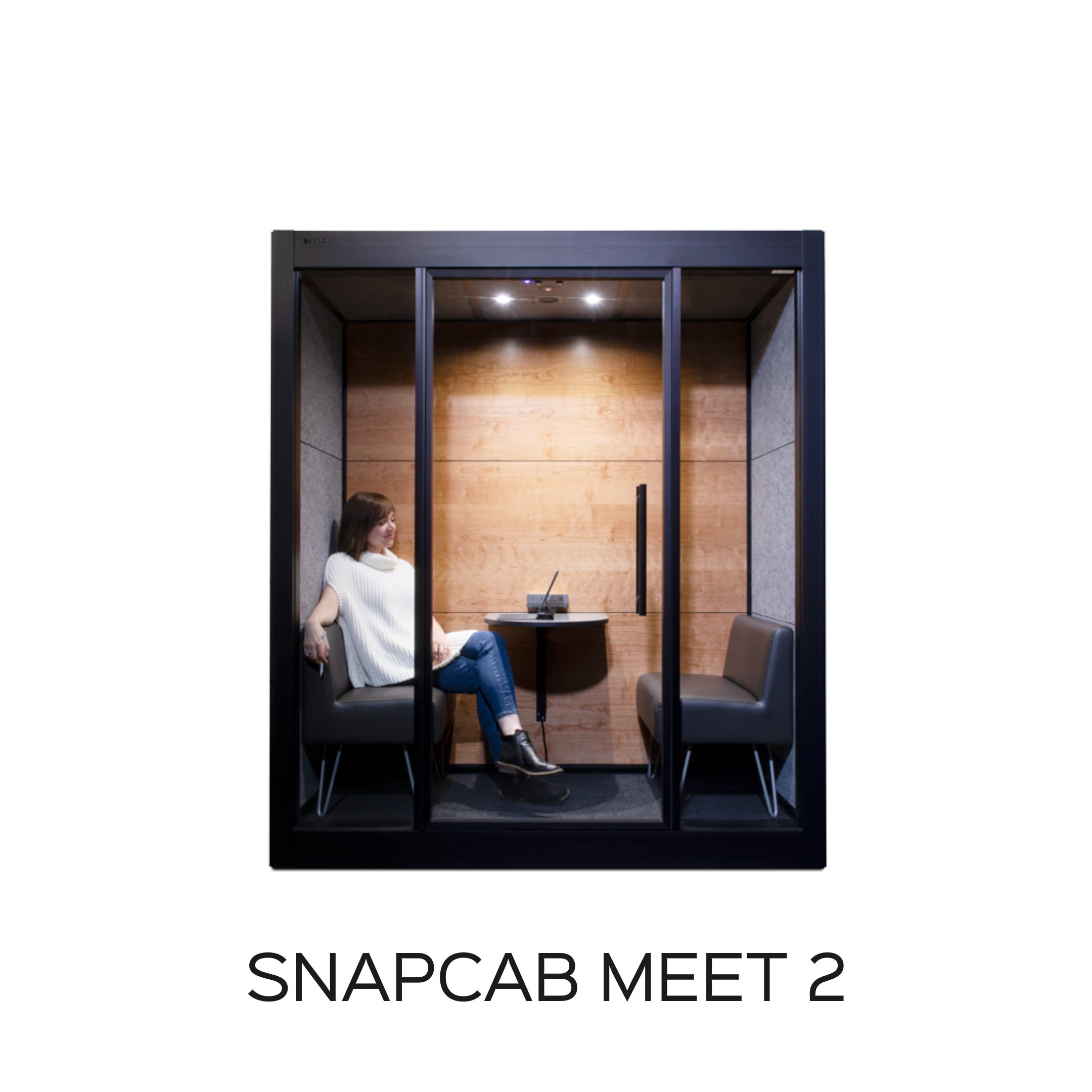 Meeting Pod for two people - SnapCab Meet 2 conference pod