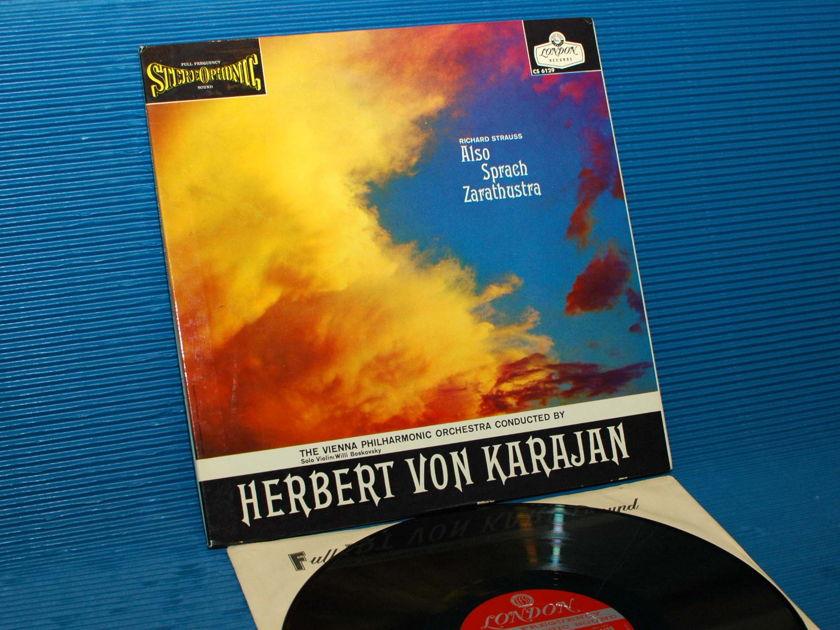 """STRAUSS / Von Karajan  - """"Also Sprach Zarathustra"""" - London 'Blue Back' 1959 early pressing"""