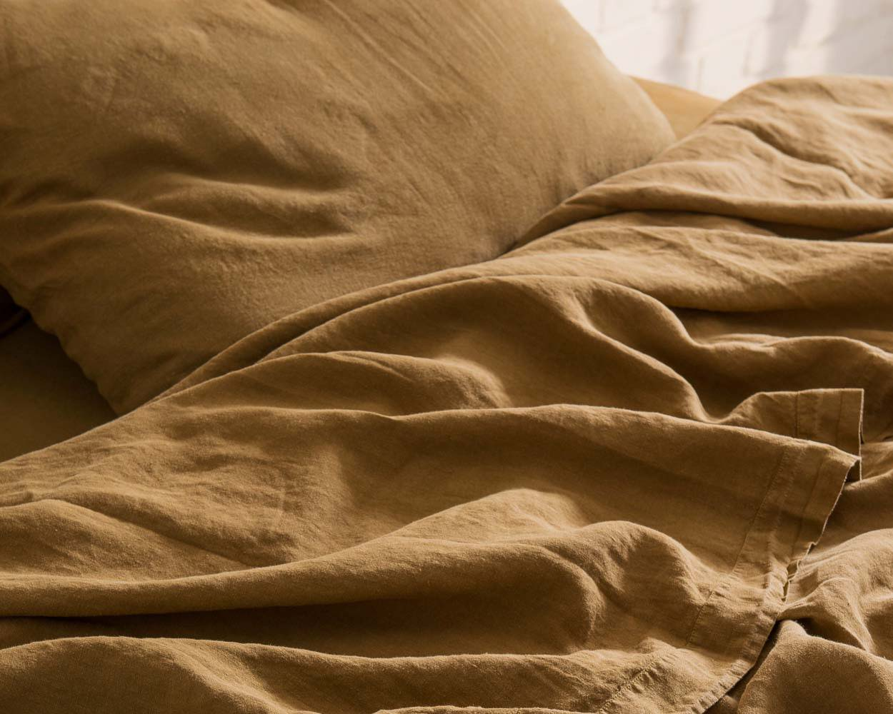 Linge de lit lin lavé naturel francais