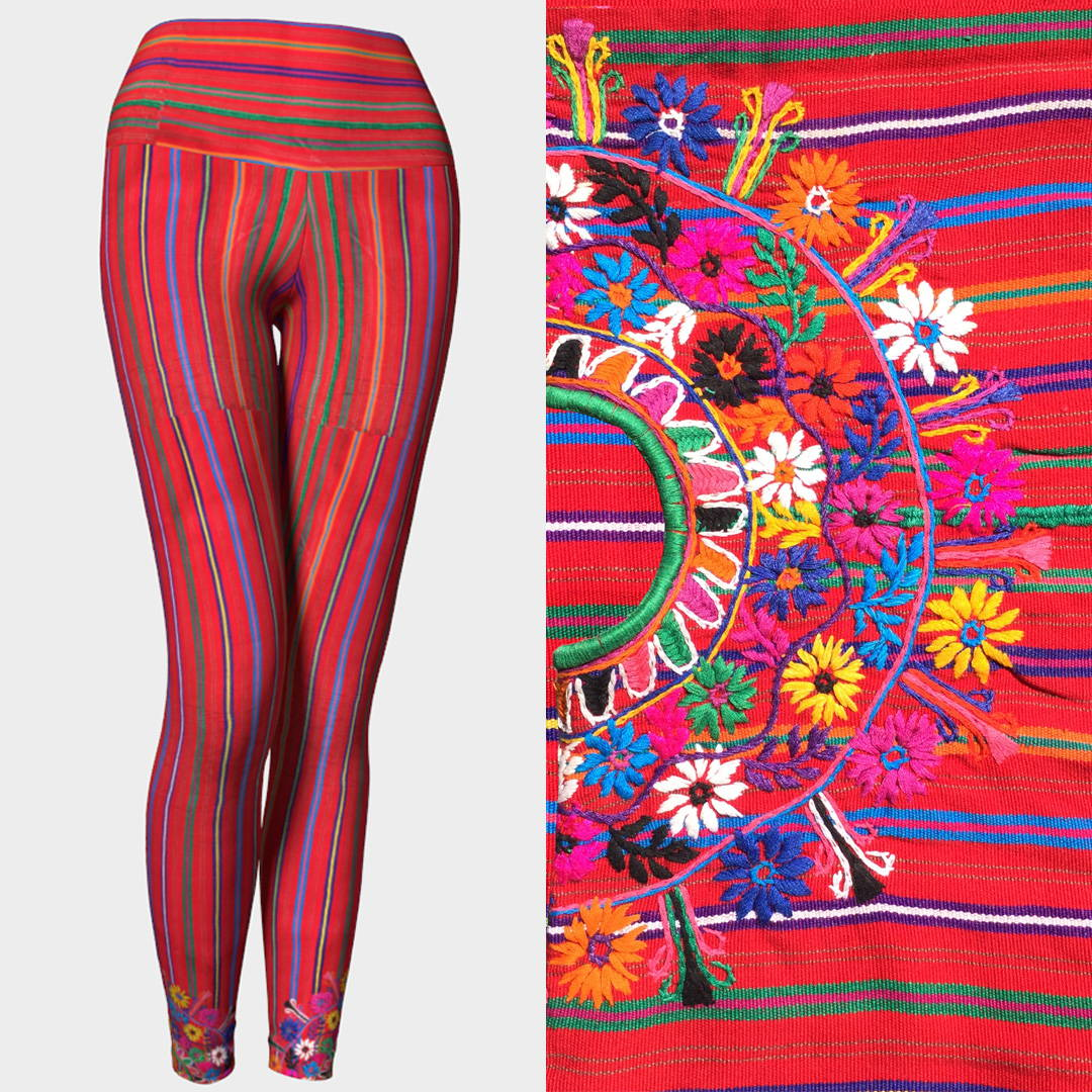 Mexico Embroidery Yoga Pants by Liz Lauter