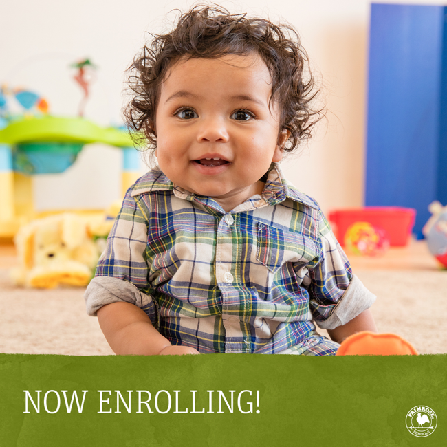 Primrose School of Springs Ranch is now enrolling children ages 6 weeks to PreKindergarten...