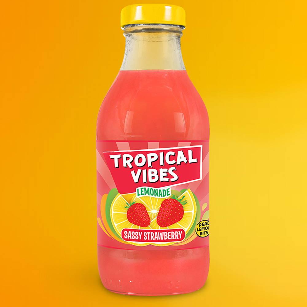 tropical vibes sassy strawberry lemonade
