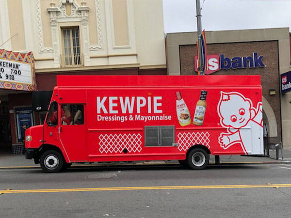Kewpie truck in front of theater on Castro street