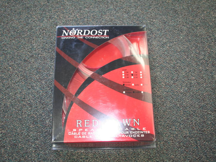Nordost  Red Dawn 4m Speaker Cables Bi-wire RCA's -- (see pics)